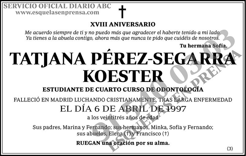 Tatjana Pérez-Segarra Koester